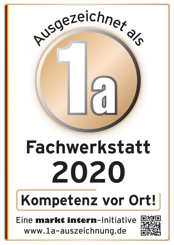Zertifizierung Fachwerkstatt 2020