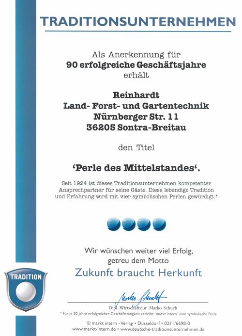 Traditionsunternehmen Reinhardt in Eschwege und Breitau