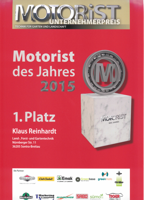 Reinhardt Motorist des Jahres 2015