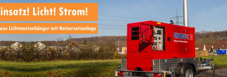 Endress Stromerzeuger bei Reinhardt in Sontra und Eschwege