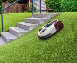 Kress Mähroboter - auch für nicht ganz ebene Gärten geeignet.